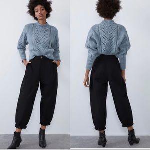 NWT ZARA Bloggers Fav. Black SLOUCHY Jeans